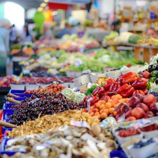 Supermarket fruit & veg section